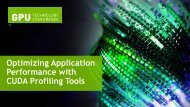 Optimizing Application Performance with CUDA Profiling ... - Nvidia