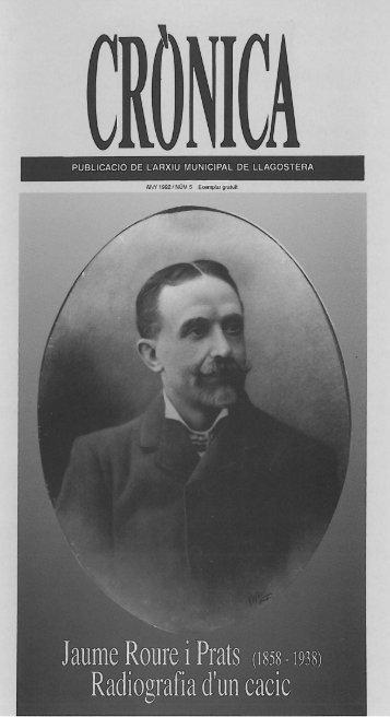PUBLICACiÓ DE L'ARXIU MUNICIPAL DE LLAGOSTERA