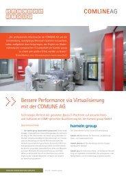 Bessere Performance via Virtualisierung mit der COMLINE AG