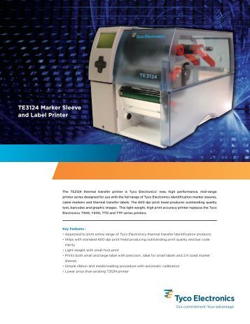 TE3124 Marker Sleeve and Label Printer