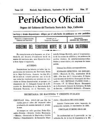 Periódico Oficial - Gobierno del Estado de Baja California