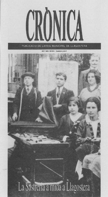 PUBLlCACIO DE L'ARXIU MUNICIPAL DE LLAGOSTERA