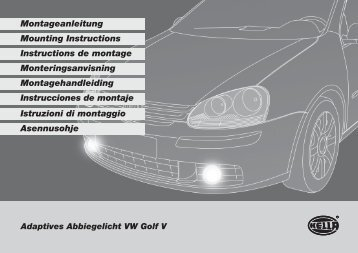 Adaptives Abbiegelicht VW Golf V Montageanleitung ... - Oscaro