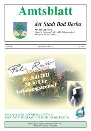 Ausgabe 7/2011 - Kurstadt Bad Berka