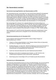 Verhandlungsbericht 10 - Gemeinde Nuerensdorf