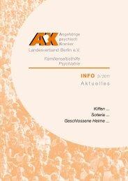 ApK Info 3/2011 - Angehörige psychisch Kranker