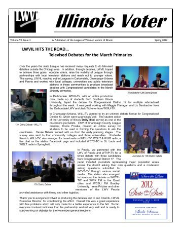 Vol 92-1, Spring 2012 Edition - League of Women Voters of Illinois