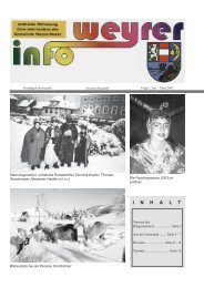 Weyrer Info, Folge 1, Jan/März 2003 (0 - Weyer