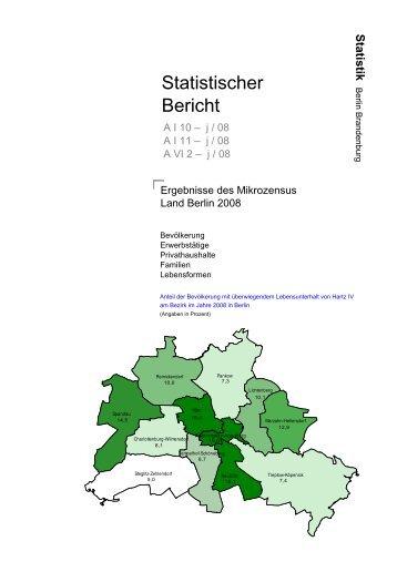 Ergebnisse des Mikrozensus Land Berlin 2008 - Amt für Statistik ...