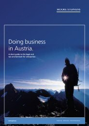 Doing business in Austria. - Moore Stephens City Treuhand