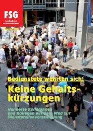 Keine Gehalts- kürzungen - FSG GÖED Salzburg