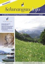 Gästeblättle Juni 2012 - PDF-Datei - Schwangau