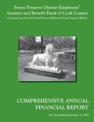 Forest Preserve CAFR - Cook County Pension Fund