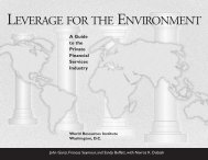 LEVERAGE FOR THE ENVIRONMENT - World Resources Institute