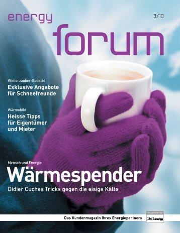 1to1 energy forum 3/10
