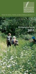 Bildungsurlaub Ökologie Natur beim Höchster Bildungsschuppen