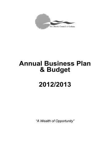 2012-13 Annual Business Plan & Budget - District Council of Ceduna