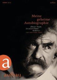 Aufbau Verlag Vorschau Herbst 2012 - vbmv.de