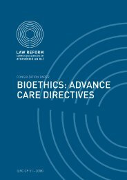 Consultation Paper on Bioethics - Law Reform Commission