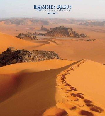 Voyages sahariens Hommes Bleus - Catalogue 2010 - 2011