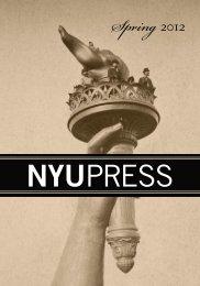 Spring 2012 catalog - New York University Press
