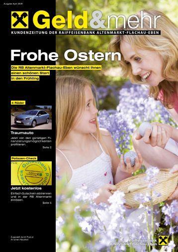 Geld & mehr - Ausgabe April 2009 - RB Altenmarkt-Flachau-Eben ...