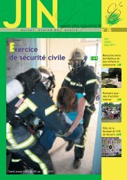 Exercice de sécurité civile Exercice de sécurité civile - CHS Navarre
