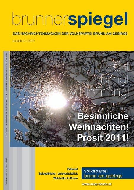 Brunner Spiegels 2010 - Österreichische Volkspartei Brunn am ...