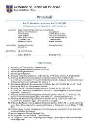 26. Gemeinderatssitzung (465 KB) - .PDF - St. Ulrich am Pillersee ...