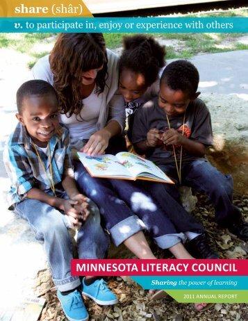 share (shâr) Minnesota Literacy counciL