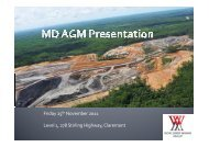AGM Presentation 2011 - Worldwide Mining Projects