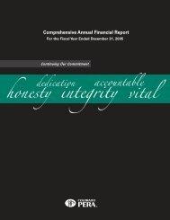 2005 Comprehensive Annual Financial Report - Colorado PERA