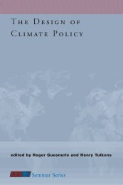 The Design of Climate Policy - Global Commons Institute