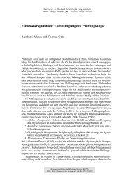 Emotionsregulation : Vom Umgang mit Prüfungsangst - KOPS