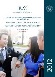Master in luxury Brand Management food & Wine - International ...