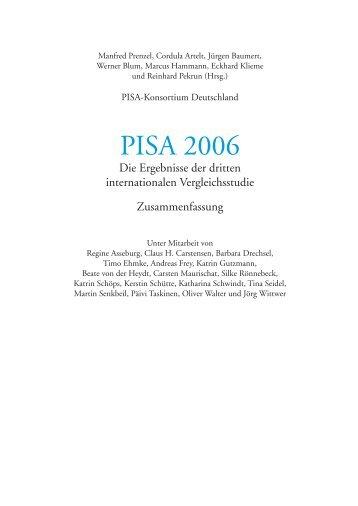 PISA 2006: Ergebnisse der dritten internationalen Vergleichsstudie