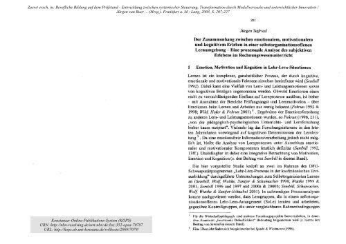 Seifried_2003_D ... und_kognitivem_Erleben.pdf - KOPS