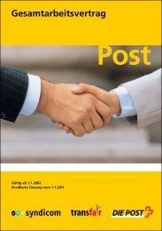 Gesamtarbeitsvertrag - Die Schweizerische Post