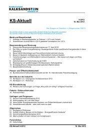 KS-Aktuell - Bundesverband Kalksandsteinindustrie eV