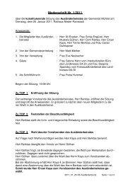 Niederschrift 25.01.2011 - Gemeinde Mühltal