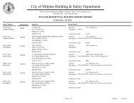 Finaled Residential Building Permit Report ... - City of Milpitas