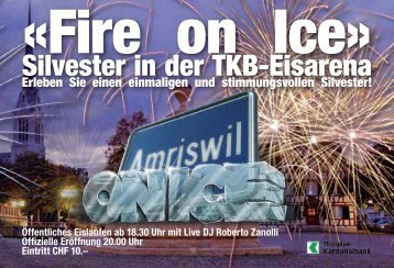 «Fire on Ice» - Amriswil on Ice»!