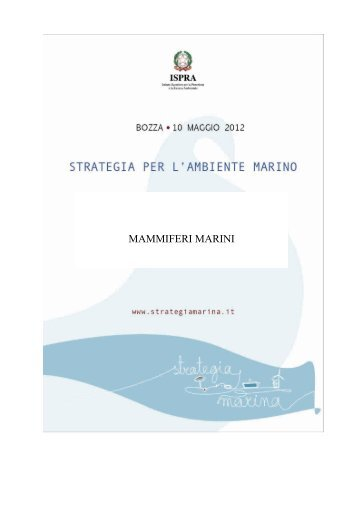 4.3.2 Med Mammiferi marini - La strategia marina - Ispra