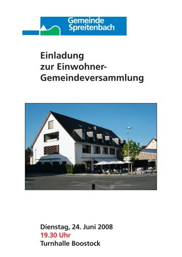61815 Bro. Einladung UM - Gemeinde Spreitenbach
