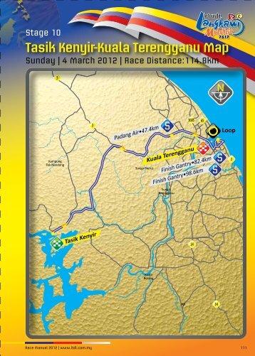 Tasik Kenyir-Kuala Terengganu Map - Le Tour de Langkawi