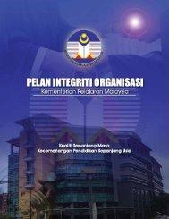 Pelan Integriti Organisasi KPM - Kementerian Pelajaran Malaysia