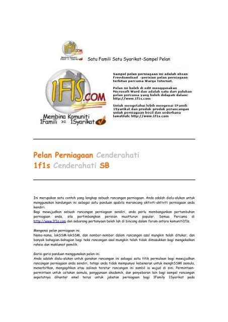 Rancangan kerja pdf perniagaan download contoh kertas