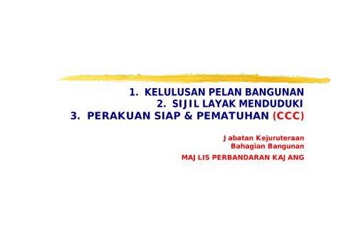 1 Kelulusan Pelan Bangunan 2 Sijil Layak Rehda Selangor