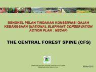 the central forest spine - Department of Wildlife and National Parks