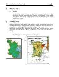 Pelan Konsep Taman Negara Pulau Pinang